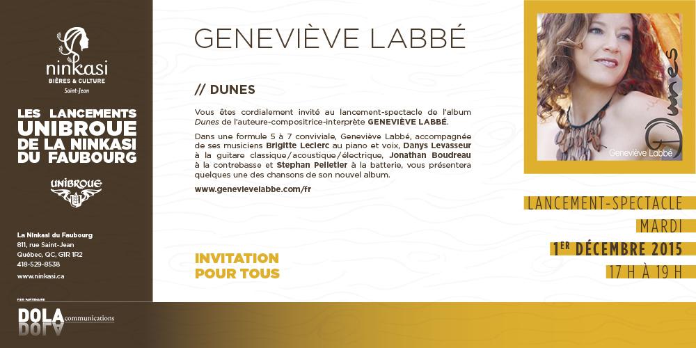 Geneviève Labbé lancement Dunes à La Ninkasi du Faubourg