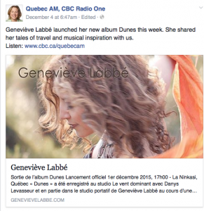 CBC Radio facebook post
